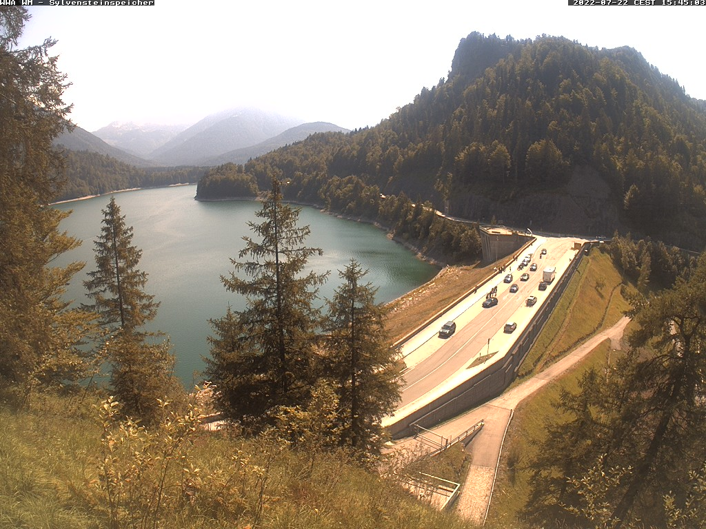 Blick auf Sylvensteinsee